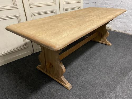 Bleached Oak Refectory Farmhouse Dining Table (1 of 13)
