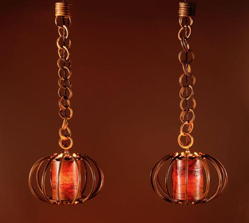 Pair of 1960s Very Decorative Rattan Hanging Lights (1 of 7)
