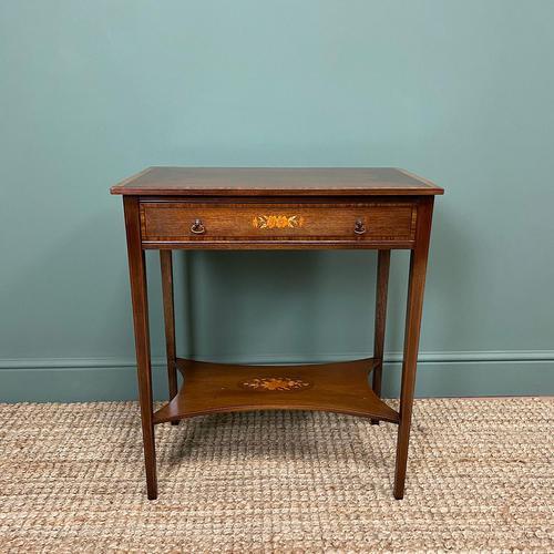 Elegant Edwardian Inlaid Mahogany Antique Side Table (1 of 6)