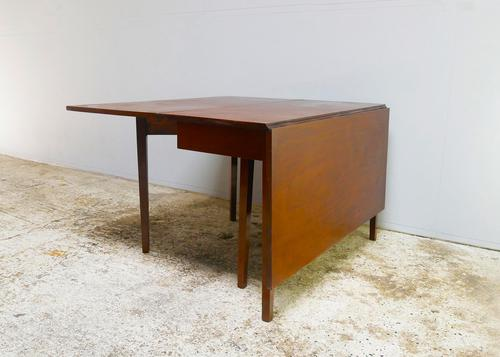 Early 1900's English vintage solid mahogany drop leaf table (1 of 4)