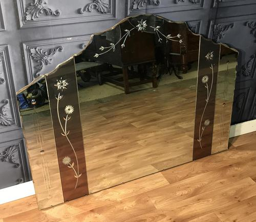Large Art Deco Wall Mirror (1 of 7)