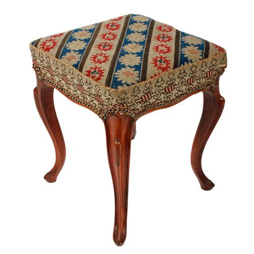 Square Victorian Rosewood Stool (1 of 6)