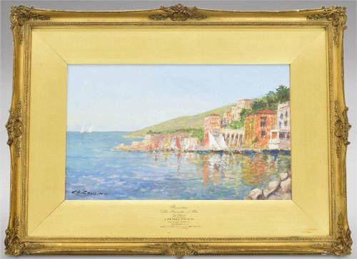 Charles Cousin - Riviera Ville Franche Sur Mer, Le Port (1 of 3)