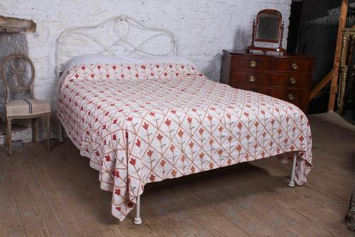 Pleasingly Shaped All Iron Irish King Size No End Bed (1 of 5)