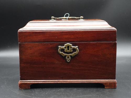 Attractive Chippendale Period Tea Caddy (1 of 6)