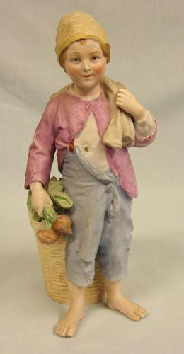 Bisque Figurine of Young Boy (1 of 14)