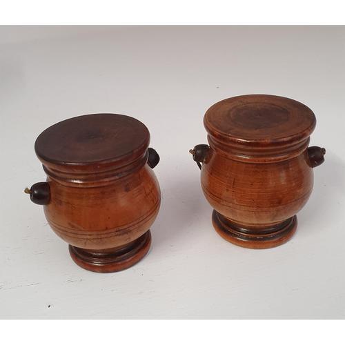 Lovely Pair of Georgian Treen Spice Pots (1 of 6)