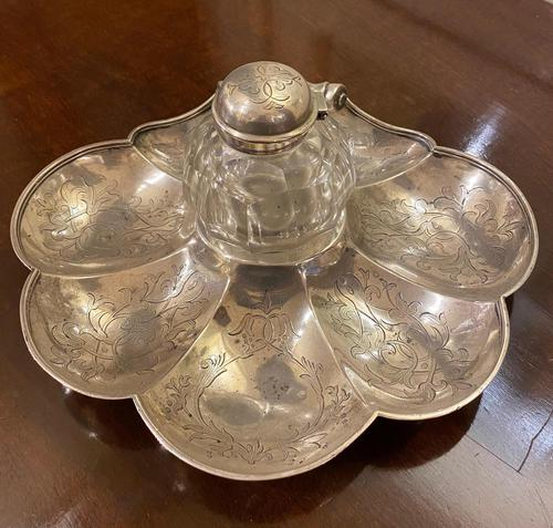 Victorian Silver Inkstand (1 of 8)