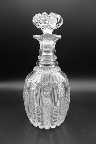 Regency Period Finely Hobnail Cut Shaped Mallet Decanter (1 of 3)