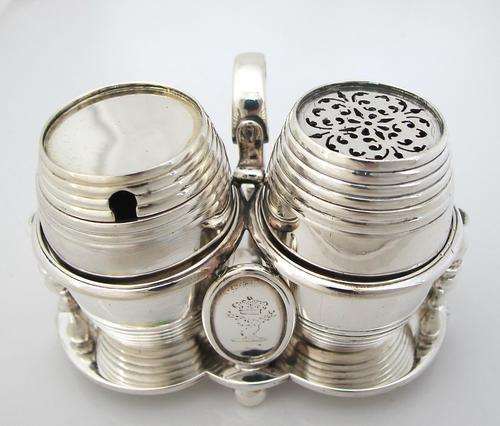 Fab Quality Victorian Silver Condiment Set George Fox London 1877 (1 of 12)