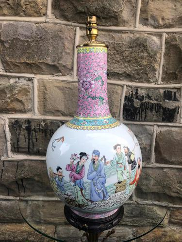 Oriental Chinese Ceramic Table Lamp (1 of 6)