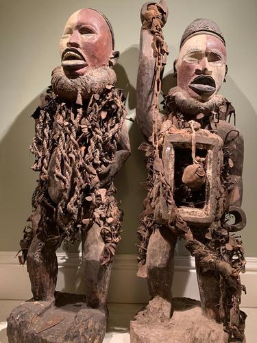 Astonishing Nkonde fetish pair. Incredibly rare and unusual (1 of 3)
