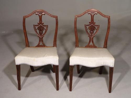 Elegant Pair of George III Period Mahogany Framed Chairs (1 of 5)