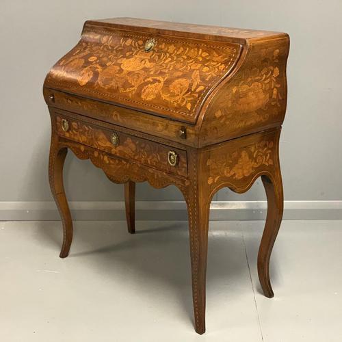 Early 19th Century Dutch Marquetry Bureau (1 of 13)