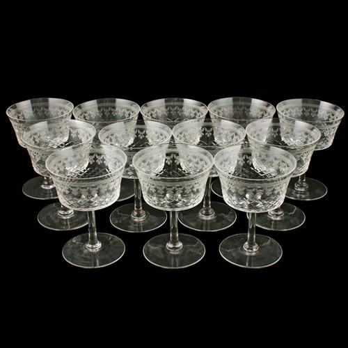 Set of Twelve Champagne Glasses (1 of 7)