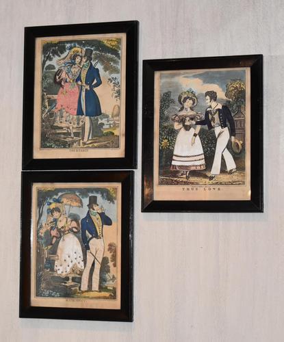 Three Romantic Regency Tinsel Prints (1 of 7)