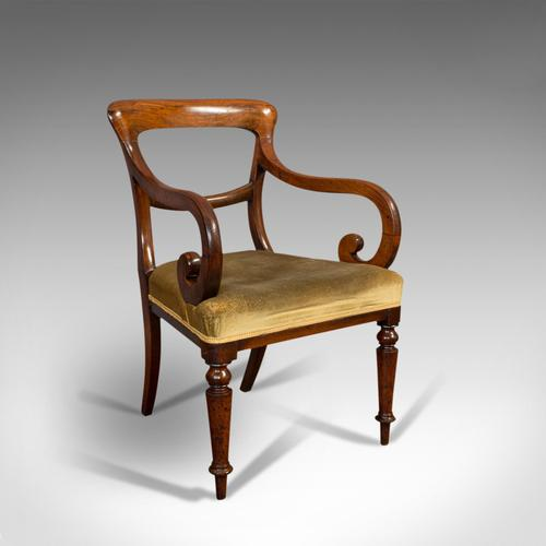 Antique Serpentine Armchair, English, Mahogany, Elbow Seat, Regency c.1820 (1 of 11)
