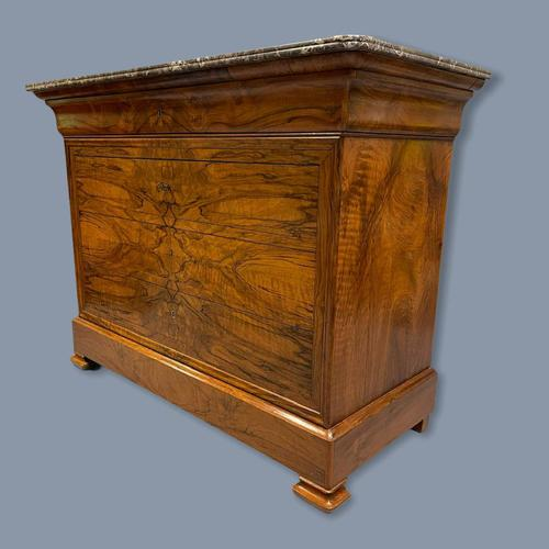 Figured Walnut Marble Top Commode (1 of 9)