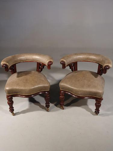 A Fine Pair of Mid 19th Century Desk or Library Chairs (1 of 8)