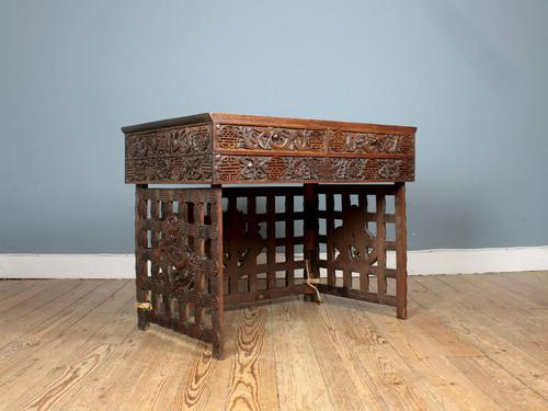 19th Century Chinese Campaign Desk (1 of 7)