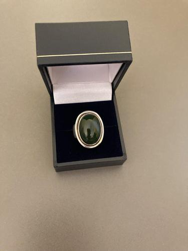 Georg Jensen Silver Ring with Nephrite (1 of 5)