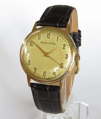 Gents 9ct Gold Smiths Astral Aquatite Watch, 1966 (1 of 5)