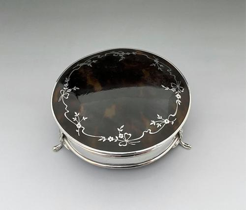 Gorgeous Silver & Tortoiseshell Trinket Box (1 of 8)