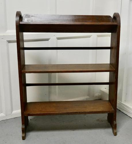 Another Open Front Oak Bookcase (1 of 4)