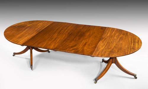 George III Period Two Pillar Dining Table (1 of 4)