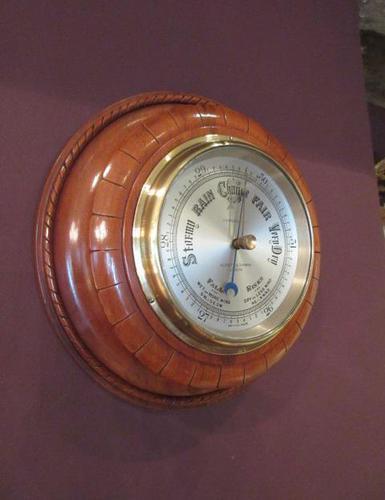 Antique Polished Mahogany Negretti & Zambra Barometer (1 of 7)