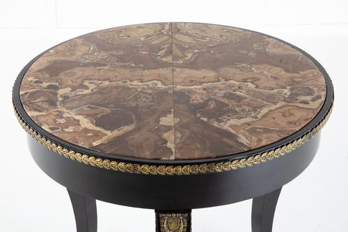 Early 19th Century Ebonised Guéridon Table with Onyx Top (1 of 9)