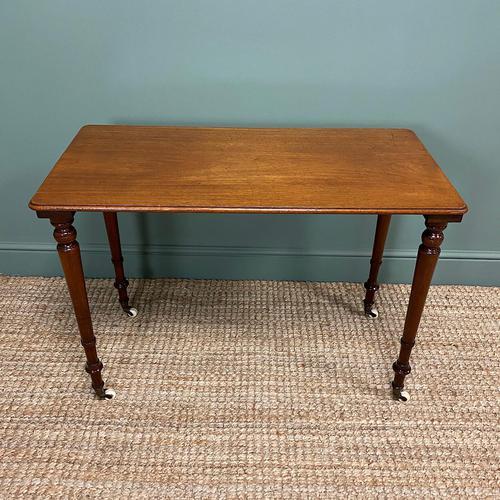 Elegant Victorian Mahogany Antique Side Stretcher Table (1 of 7)