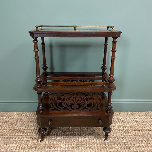 Victorian Rosewood Antique Canterbury (1 of 7)