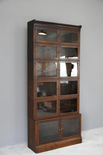 Minty Oak Sectional Glazed Bookcase (1 of 12)