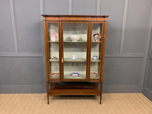 Edwardian Inlaid Mahogany & Satinwood Display Cabinet (1 of 12)