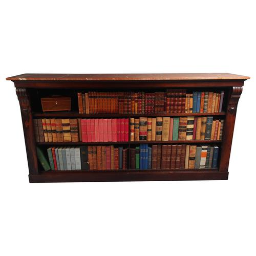 William IV Rosewood and Pink Marble Top Open Bookcase (1 of 13)