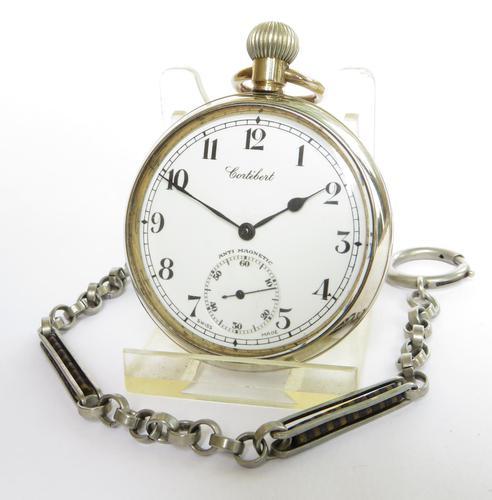 1930s Cortebert Pocket Watch and Chain (1 of 4)