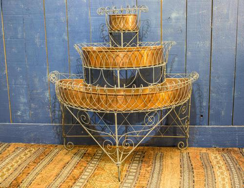 Antique Wire Plant Stand / Conservatory Planter (1 of 10)
