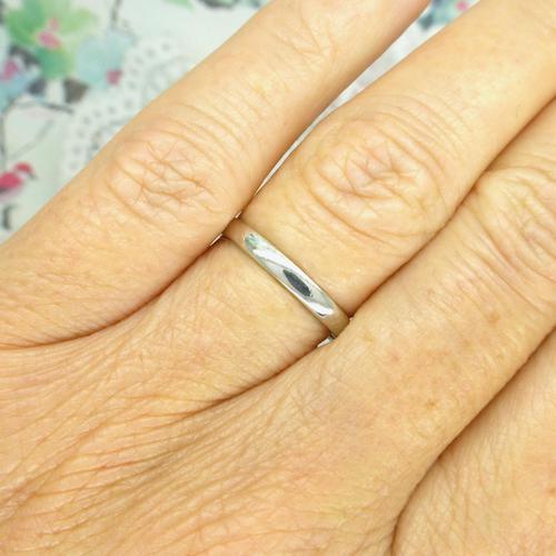 Vintage Art Deco Plain Platinum Wedding Band c1930's ~ Ladies narrow ring size O 1/2 - 7.25 (1 of 9)