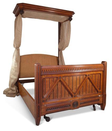 Oak Half Tester Bed (1 of 19)