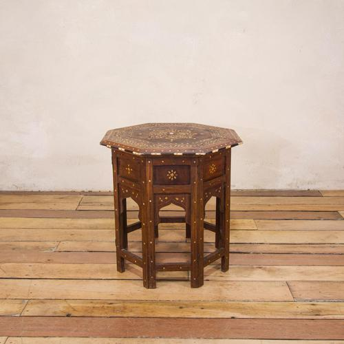 Late 19th Century Indian Hoshiarpur Occasional Octagonal Table (1 of 15)