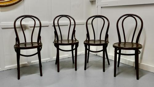 Set of 4 Bistro Bentwood Chairs (1 of 5)