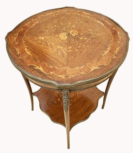 Wonderful Victorian Marquetry Occasional Table (1 of 8)