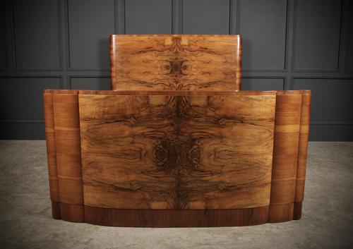 Art Deco Walnut Standard Double Bed (1 of 11)