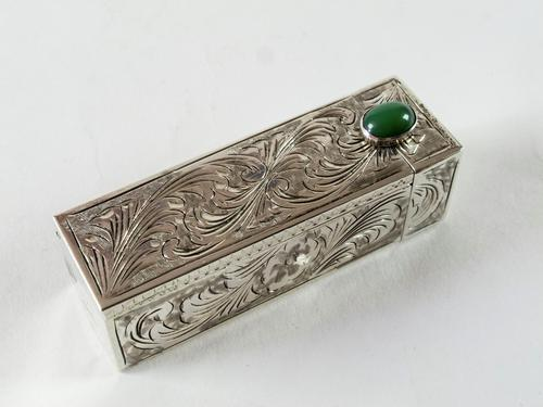 Art Deco Italian Silver Lipstick Case (1 of 7)