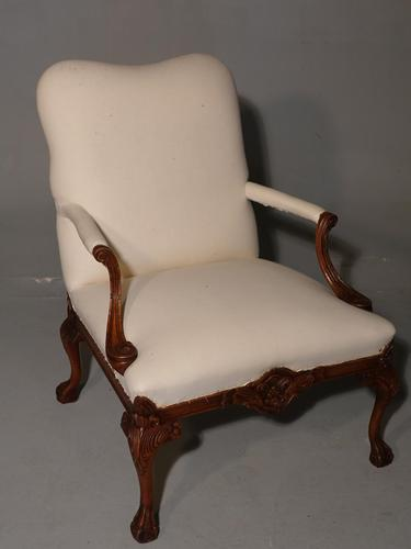 Well Carved Early 20th Century Gainsborough Armchair (1 of 5)