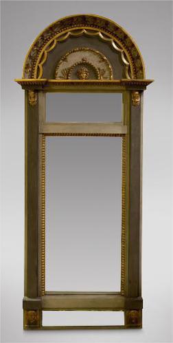 Decorative Gustavian Swedish Pier Mirror 19thc (1 of 5)