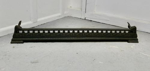 Another Victorian Cast Iron Fender or Dog Grate (1 of 5)