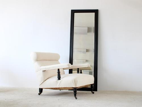 """""""Ebonised"""" Floor Mirror c.1900 (1 of 7)"""