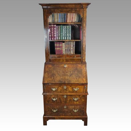 19th Century Walnut Bureau Bookcase (1 of 19)